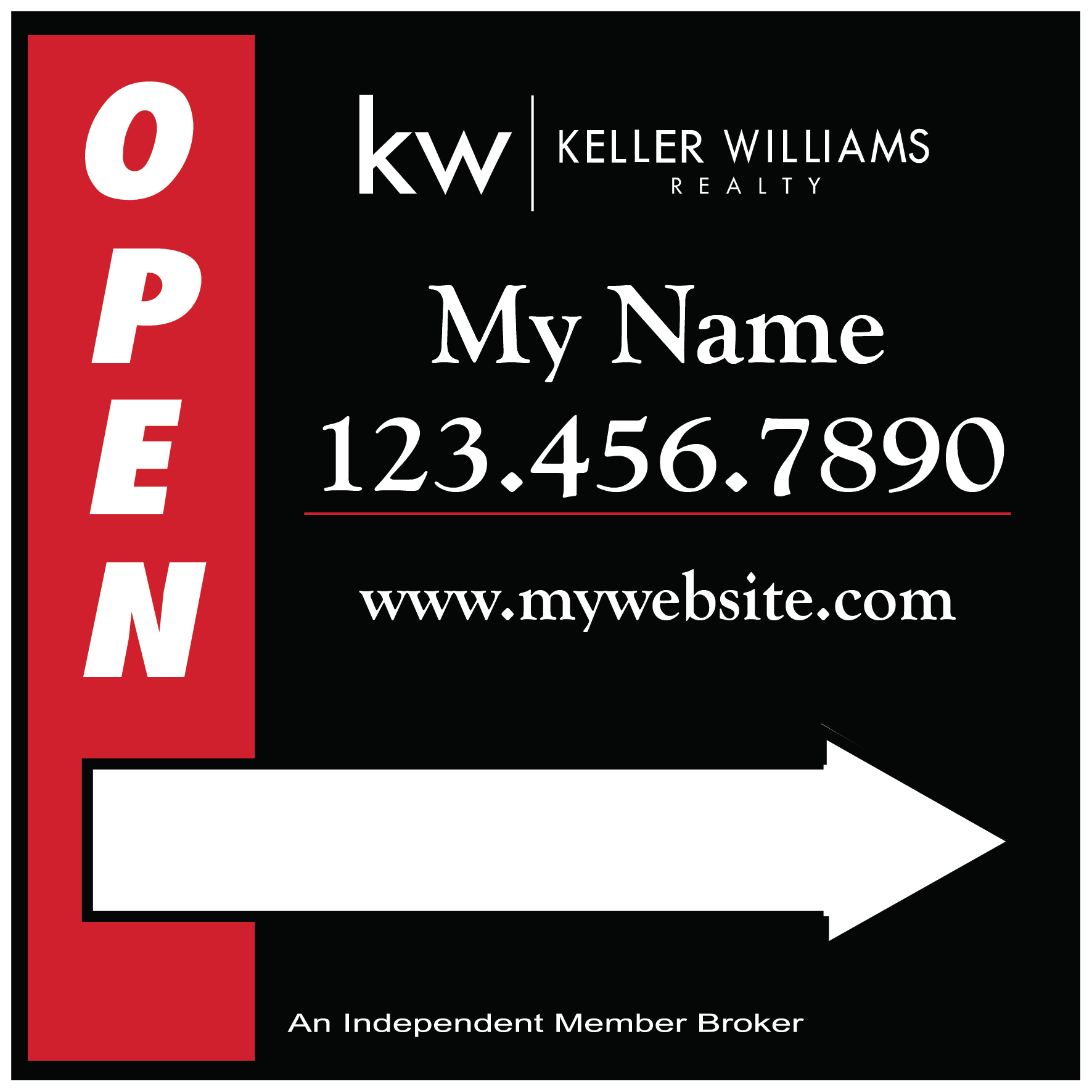 Keller Williams SignsBanners Custom Design Online – Open House Template