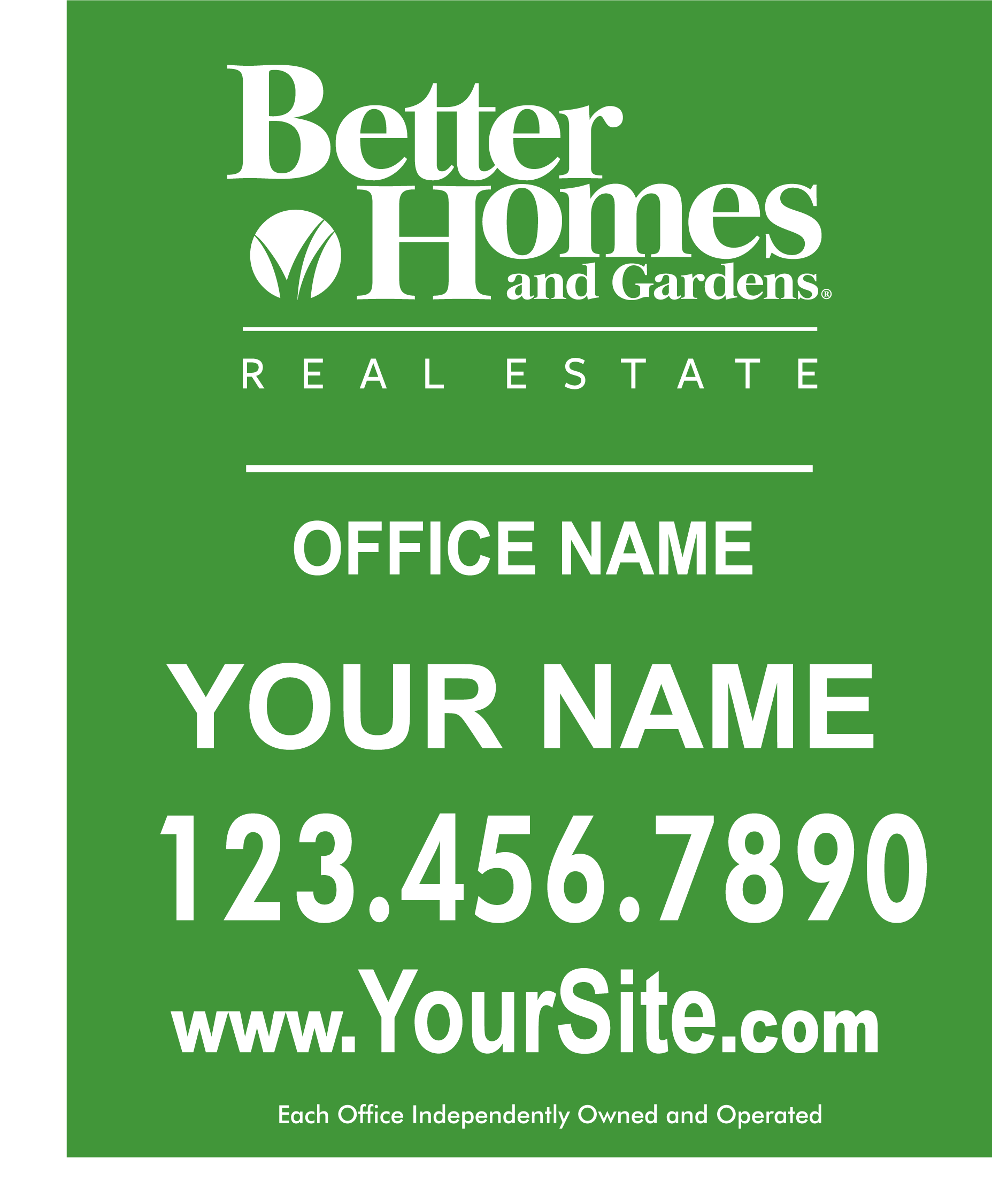 Better Homes Garden Signs Banners Custom Design Online 939 Sign
