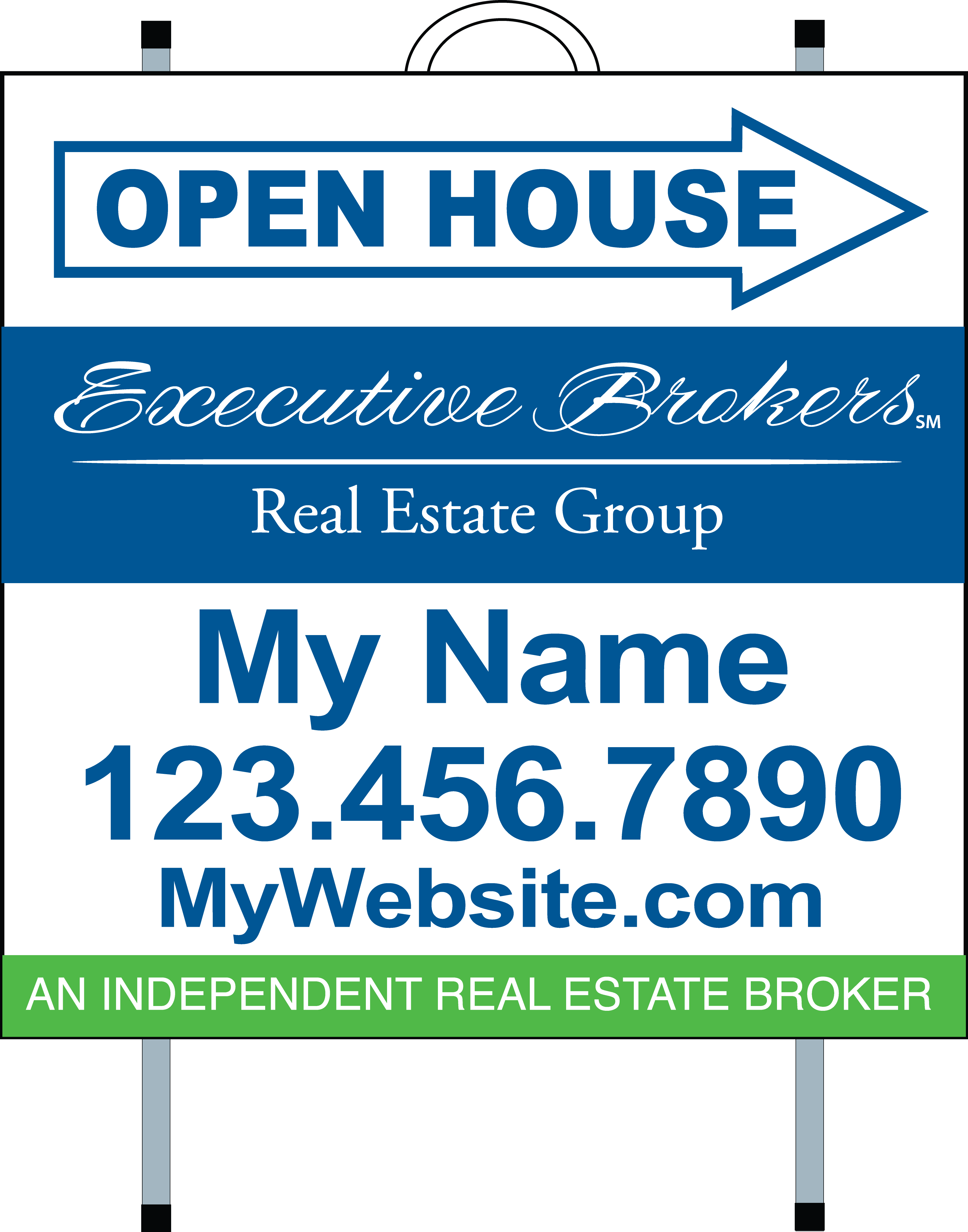 Executive Brokers | Real Estate Signs, Yard Signs, Open House Signs