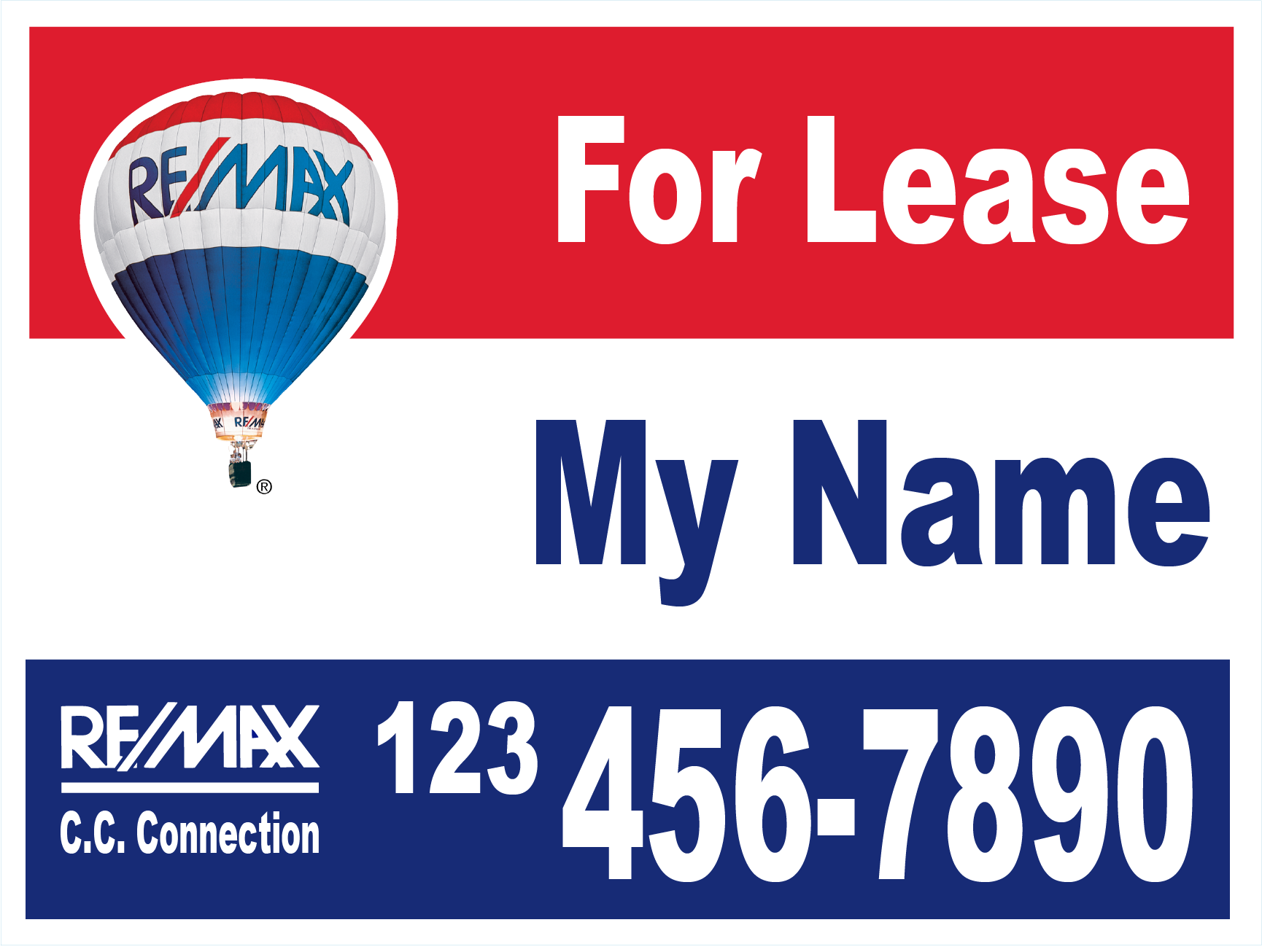 18 x 24 Yard Sign For Lease CATALOG