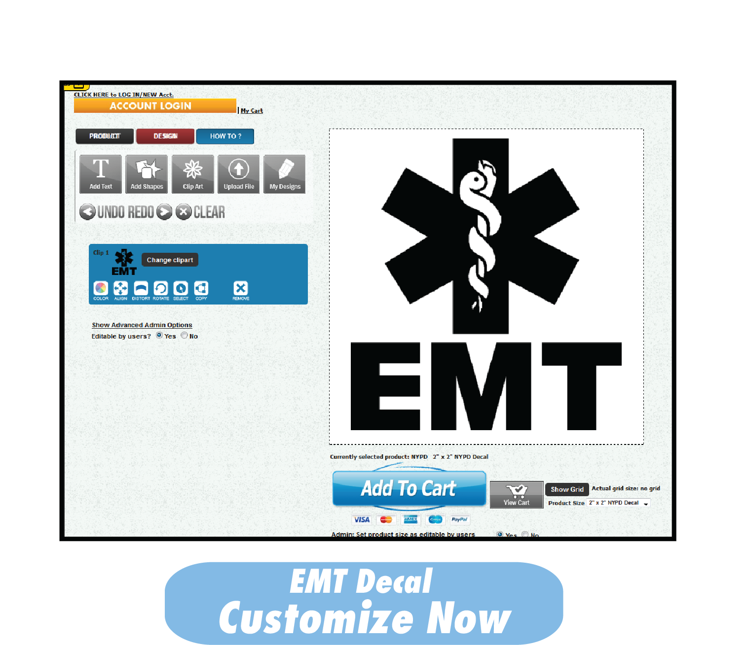 EMT Decal