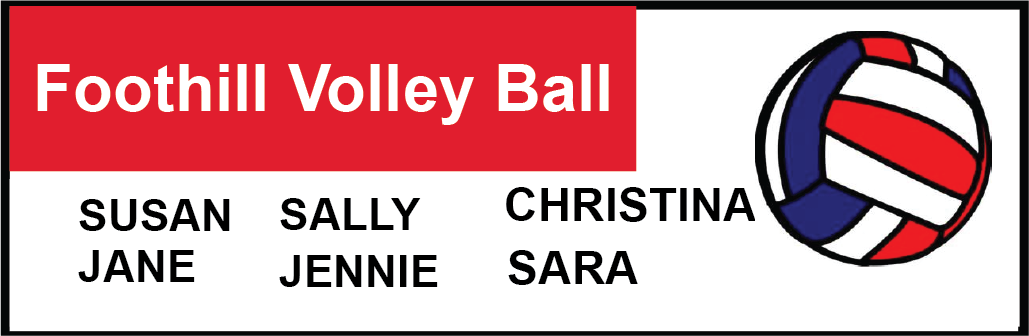 Foothill Volley Ball Banner