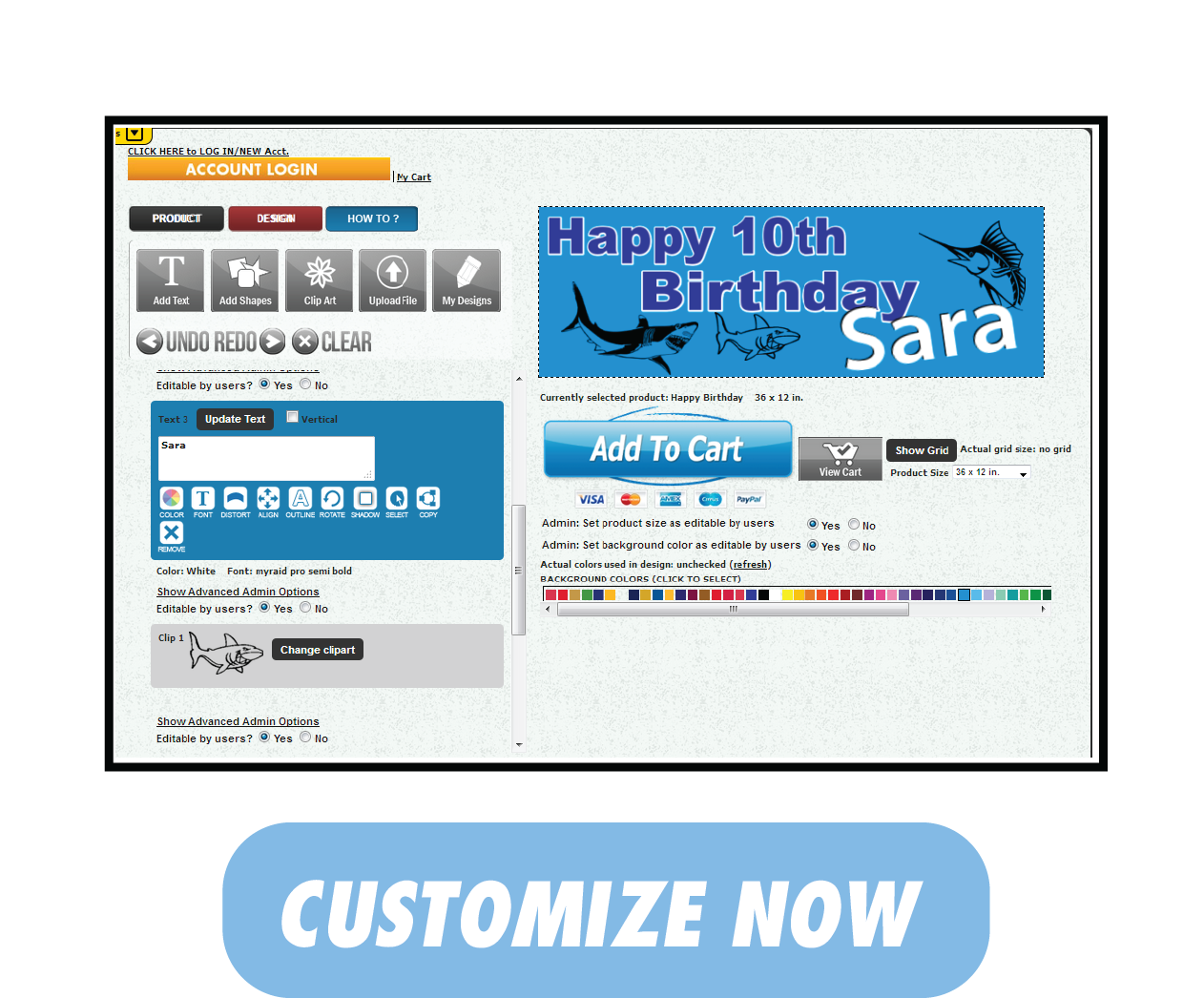 Happy  Birthday Banner | Customize Now