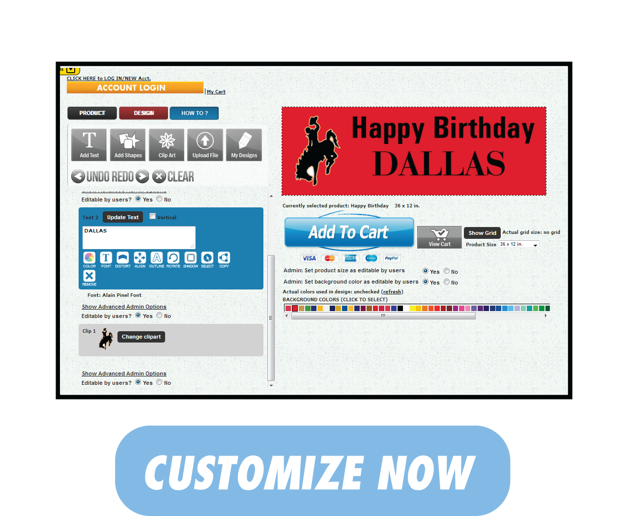 Happy Birthday Banner | Customize and Buy