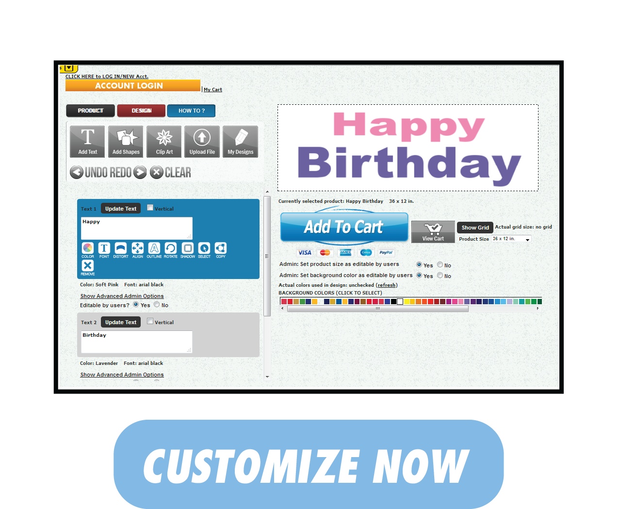 Happy Birthday Banner | Buy Now